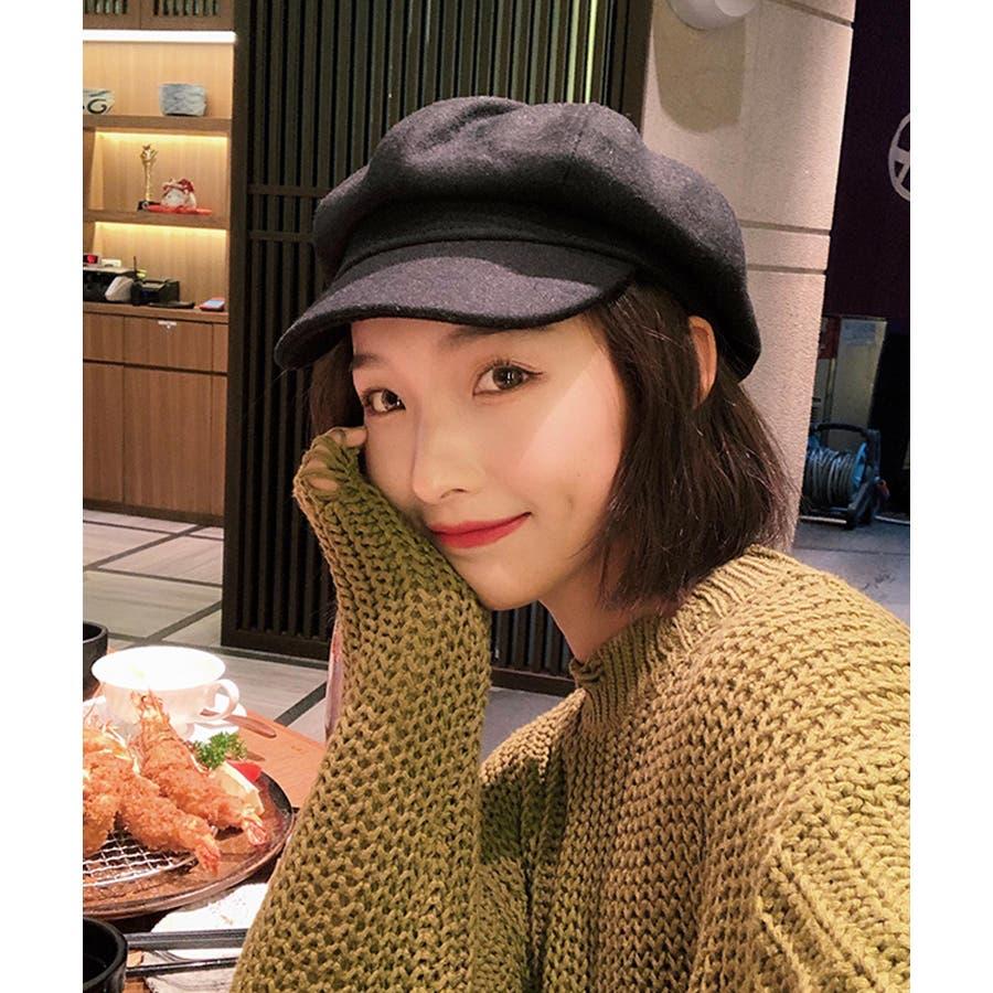冬新作 キャスケット 帽子 ハット キャスケット カジュアル フェミニン シンプル 上品 レディース 韓国ファッション 6