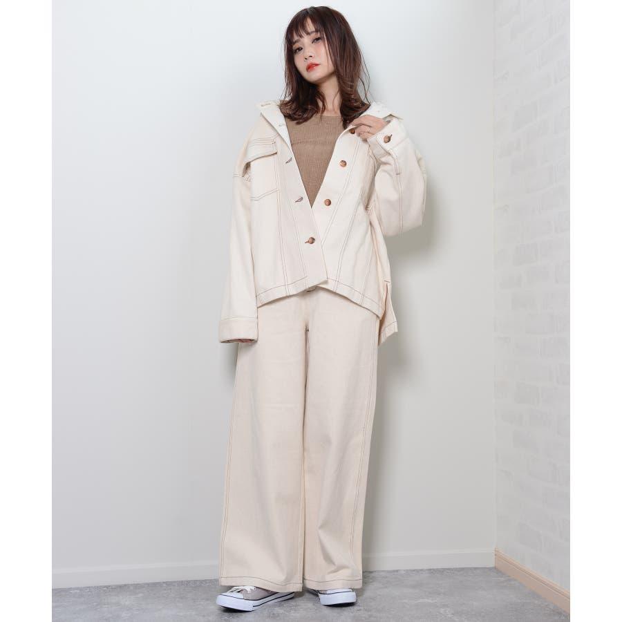 秋新作 BIGジャケット アウター ジャケット セットアップ オーバーサイズ BIG ゆったり シンプル レディース 韓国ファッション 3