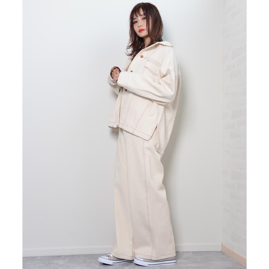 秋新作 BIGジャケット アウター ジャケット セットアップ オーバーサイズ BIG ゆったり シンプル レディース 韓国ファッション 4