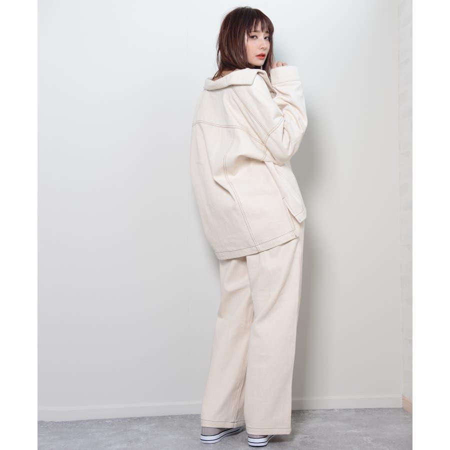 秋新作 BIGジャケット アウター ジャケット セットアップ オーバーサイズ BIG ゆったり シンプル レディース 韓国ファッション 5