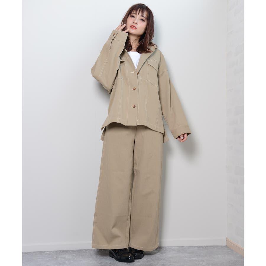 秋新作 BIGジャケット アウター ジャケット セットアップ オーバーサイズ BIG ゆったり シンプル レディース 韓国ファッション 7