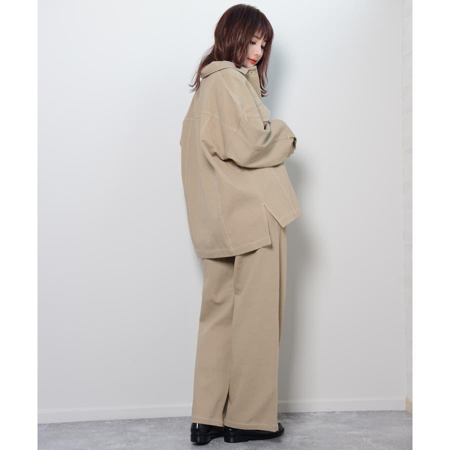 秋新作 BIGジャケット アウター ジャケット セットアップ オーバーサイズ BIG ゆったり シンプル レディース 韓国ファッション 9