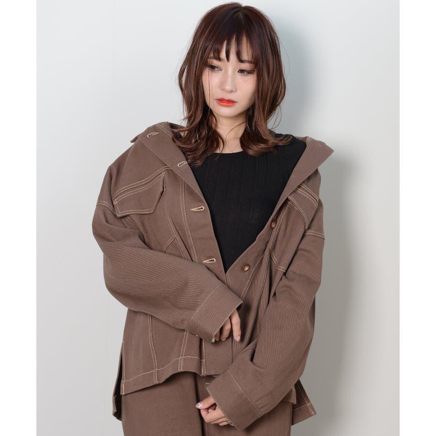 秋新作 BIGジャケット アウター ジャケット セットアップ オーバーサイズ BIG ゆったり シンプル レディース 韓国ファッション 29