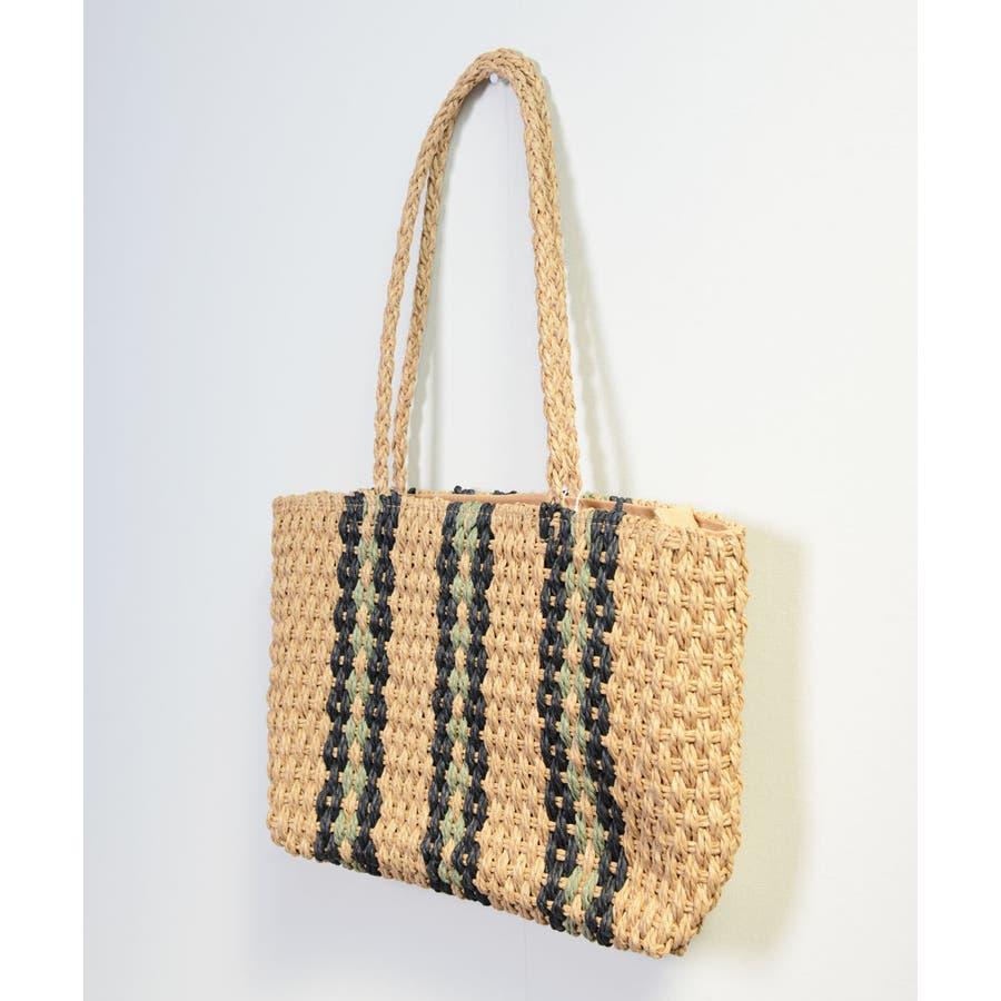 秋新作 ペーパートートバッグ 鞄 バッグ トート かご ペーパー トートバッグ 肩掛け レディース 韓国ファッション 5