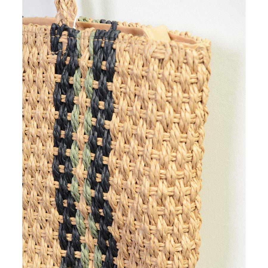 秋新作 ペーパートートバッグ 鞄 バッグ トート かご ペーパー トートバッグ 肩掛け レディース 韓国ファッション 7
