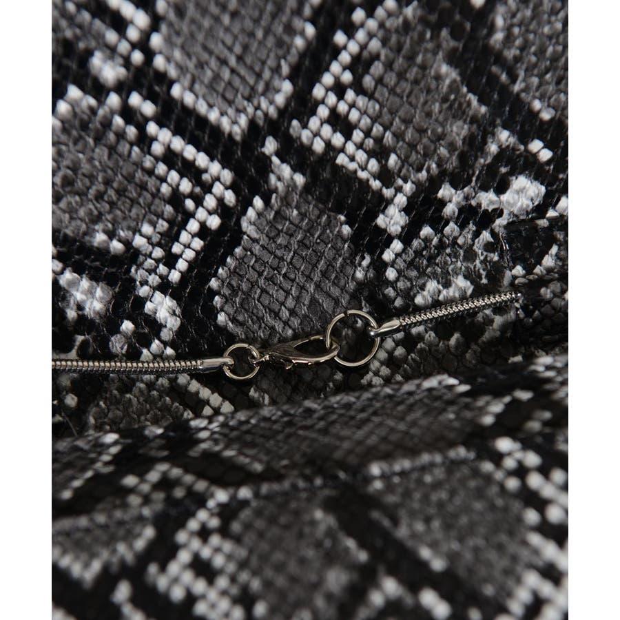 秋新作 パイソン2wayバッグバッグ 鞄 ショルダー ウエストポーチ ベルト パイソン 蛇 ミニ レディース韓国ファッション 7