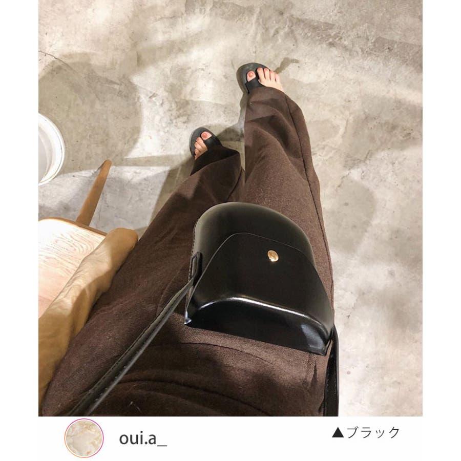 秋新作 レザー調ミニポシェット バッグ 鞄 ショルダー ポシェット レザー調 シンプル レディース 韓国ファッションInstagram 2
