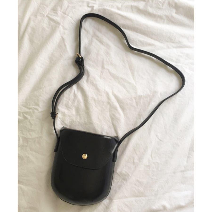 秋新作 レザー調ミニポシェット バッグ 鞄 ショルダー ポシェット レザー調 シンプル レディース 韓国ファッションInstagram 5