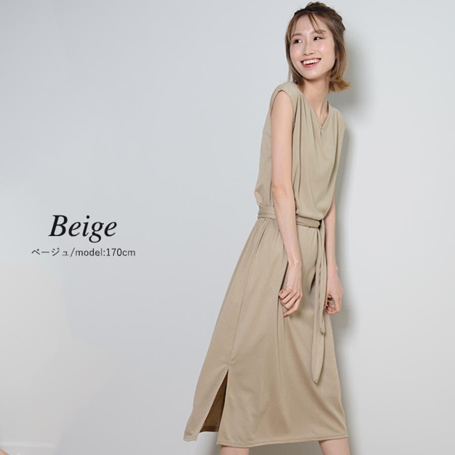 秋新作 フレンチスリーブロングワンピ ma アパレル ワンピース ワンピ フレンチスリーブ ロング Vネックスリットシンプルレディース韓国ファッション Instagram 5