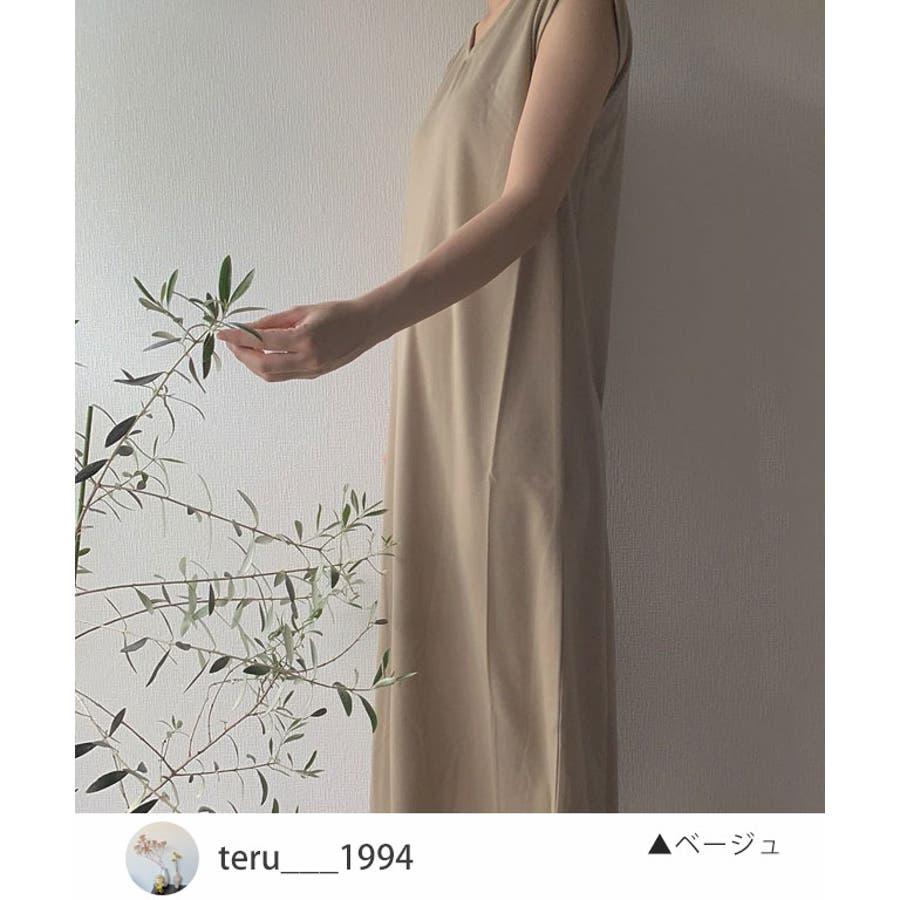 秋新作 フレンチスリーブロングワンピ ma アパレル ワンピース ワンピ フレンチスリーブ ロング Vネックスリットシンプルレディース韓国ファッション Instagram 2
