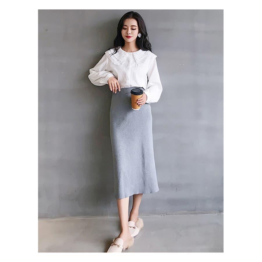 秋新作 レース襟シャツ ma トップス シャツ ブラウス 刺繍 レース レディース 韓国ファッション 9