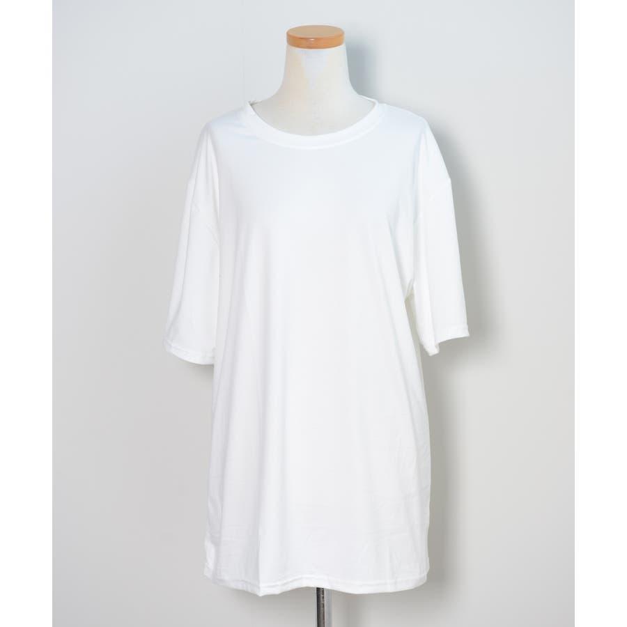 冬新作 BIGシルエットTシャツ ma トップス Tシャツ カットソー ホワイト BIG 大き目 オーバーサイズ レディース韓国ファッション 2