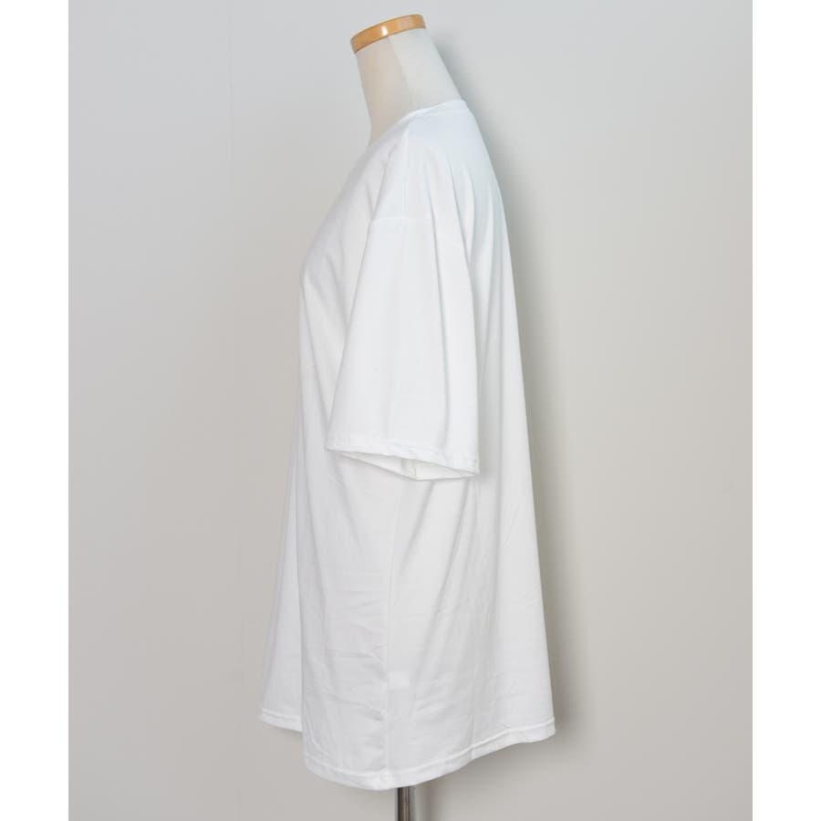 冬新作 BIGシルエットTシャツ ma トップス Tシャツ カットソー ホワイト BIG 大き目 オーバーサイズ レディース韓国ファッション 3