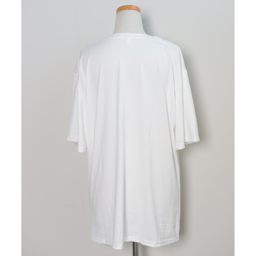 冬新作 BIGシルエットTシャツ ma トップス Tシャツ カットソー ホワイト BIG 大き目 オーバーサイズ レディース韓国ファッション 4