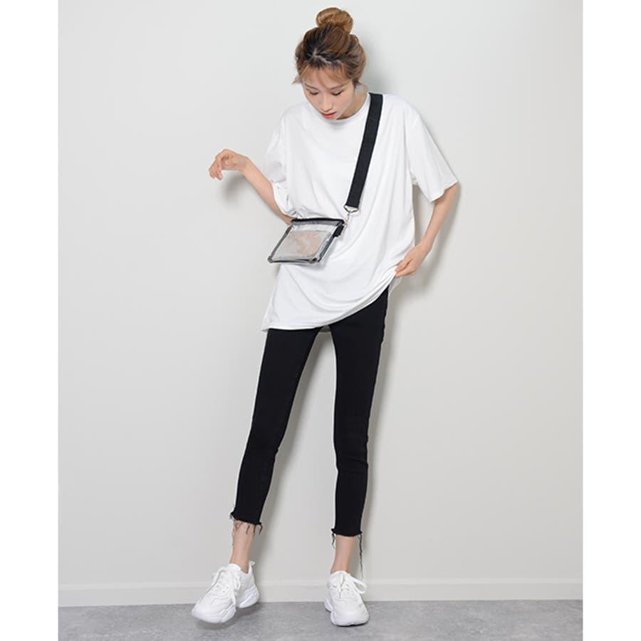 冬新作 BIGシルエットTシャツ ma トップス Tシャツ カットソー ホワイト BIG 大き目 オーバーサイズ レディース韓国ファッション 6