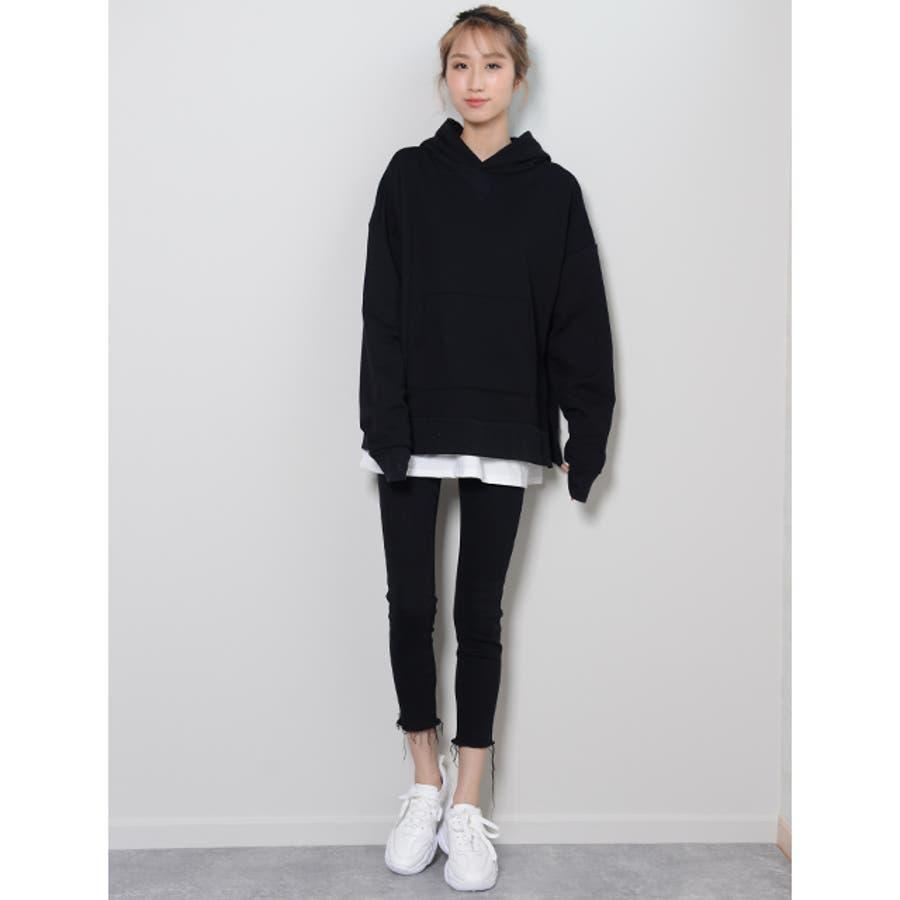 冬新作 BIGシルエットTシャツ ma トップス Tシャツ カットソー ホワイト BIG 大き目 オーバーサイズ レディース韓国ファッション 8