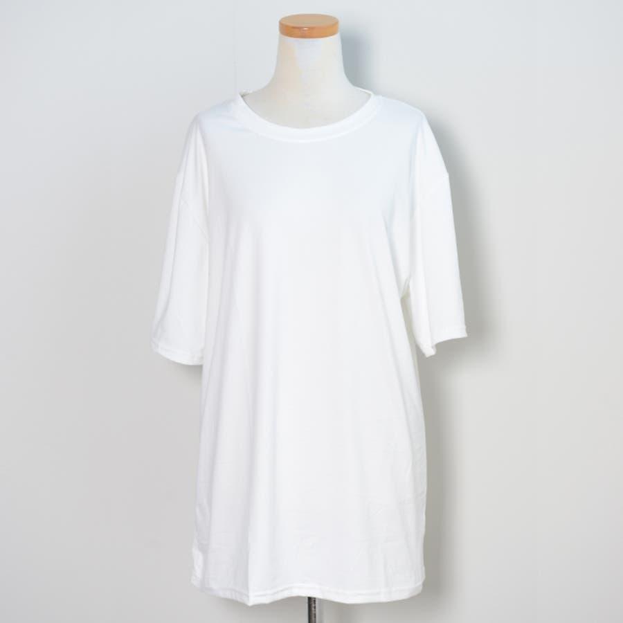冬新作 BIGシルエットTシャツ ma トップス Tシャツ カットソー ホワイト BIG 大き目 オーバーサイズ レディース韓国ファッション 10