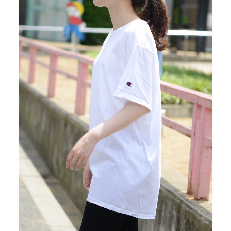 秋新作 チャンピオンTシャツ ma トップス Tシャツ カットソー チャンピオン Champion 半袖 オーバーサイズ大き目めシンプル レディース 韓国ファッション 16