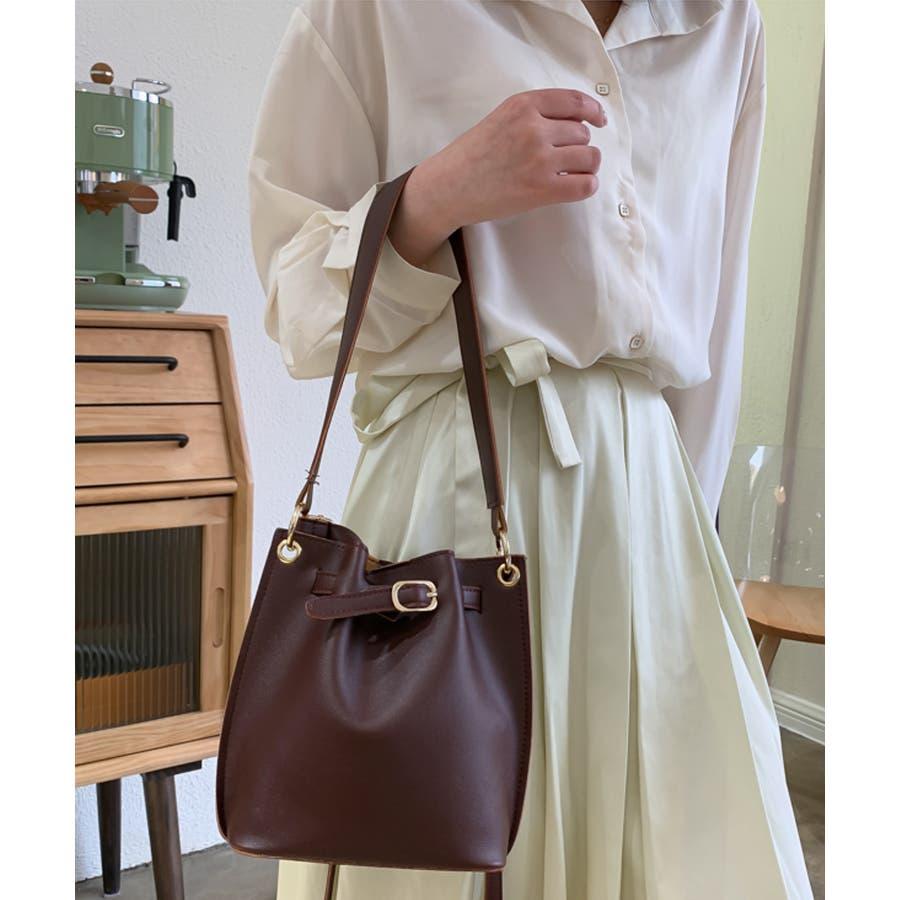 秋新作 ベルト2wayバッグ ショルダー ハンド 2way バッグ 鞄 ベルト ナチュラル 上品 トレンド 韓国ファッションレディース 7