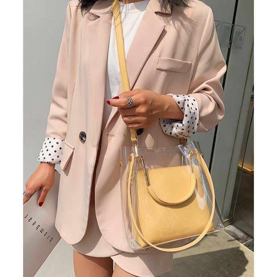 秋新作 クリアバッグ ショルダーバッグ ミニバッグ トレンド 3way 韓国ファッション 流行 レディース シンプルInstagram 83