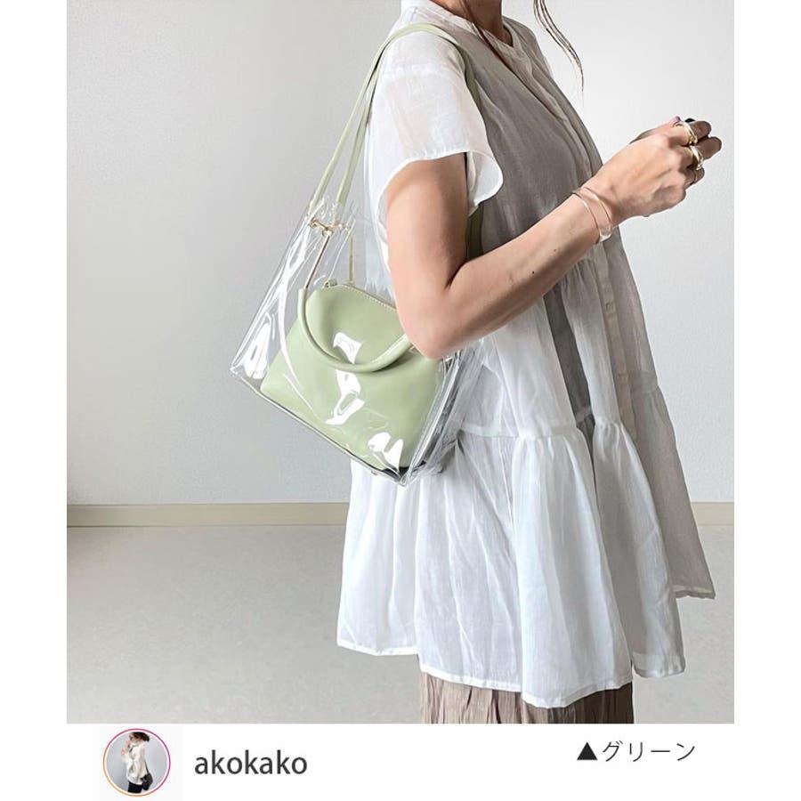 秋新作 クリアバッグ ショルダーバッグ ミニバッグ トレンド 3way 韓国ファッション 流行 レディース シンプルInstagram 2