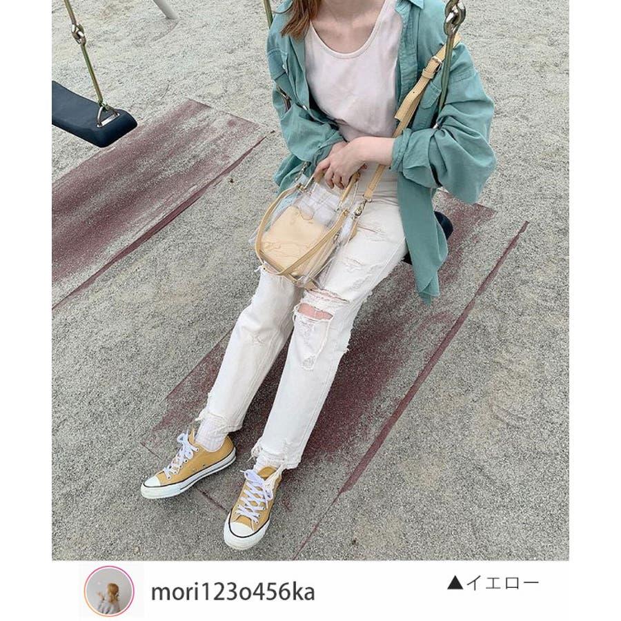 秋新作 クリアバッグ ショルダーバッグ ミニバッグ トレンド 3way 韓国ファッション 流行 レディース シンプルInstagram 4