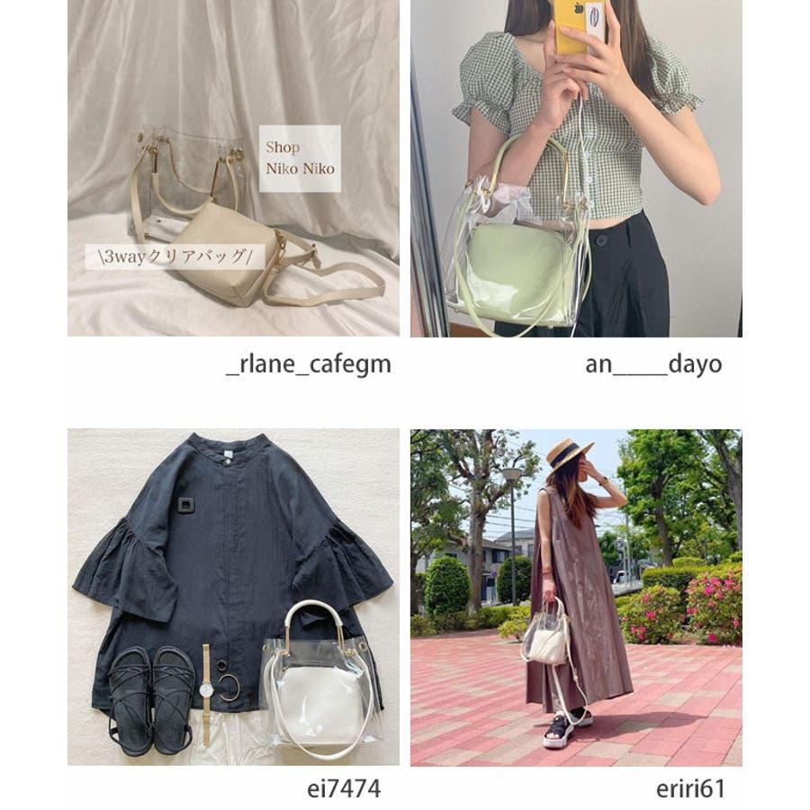 秋新作 クリアバッグ ショルダーバッグ ミニバッグ トレンド 3way 韓国ファッション 流行 レディース シンプルInstagram 6