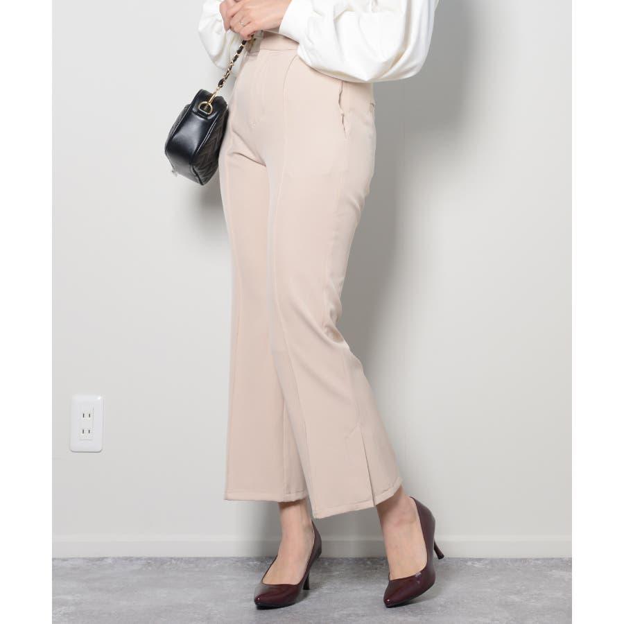 秋新作 ピンタックプレスパンツ シンプル ピンタック プレス パンツ トレンド レディース 韓国ファッション 流行 113