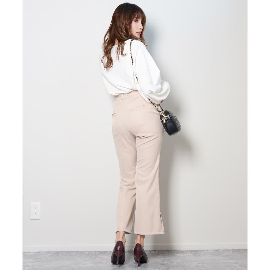 秋新作 ピンタックプレスパンツ シンプル ピンタック プレス パンツ トレンド レディース 韓国ファッション 流行 7