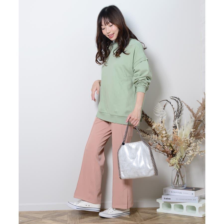 秋新作 ピンタックプレスパンツ シンプル ピンタック プレス パンツ トレンド レディース 韓国ファッション 流行 90