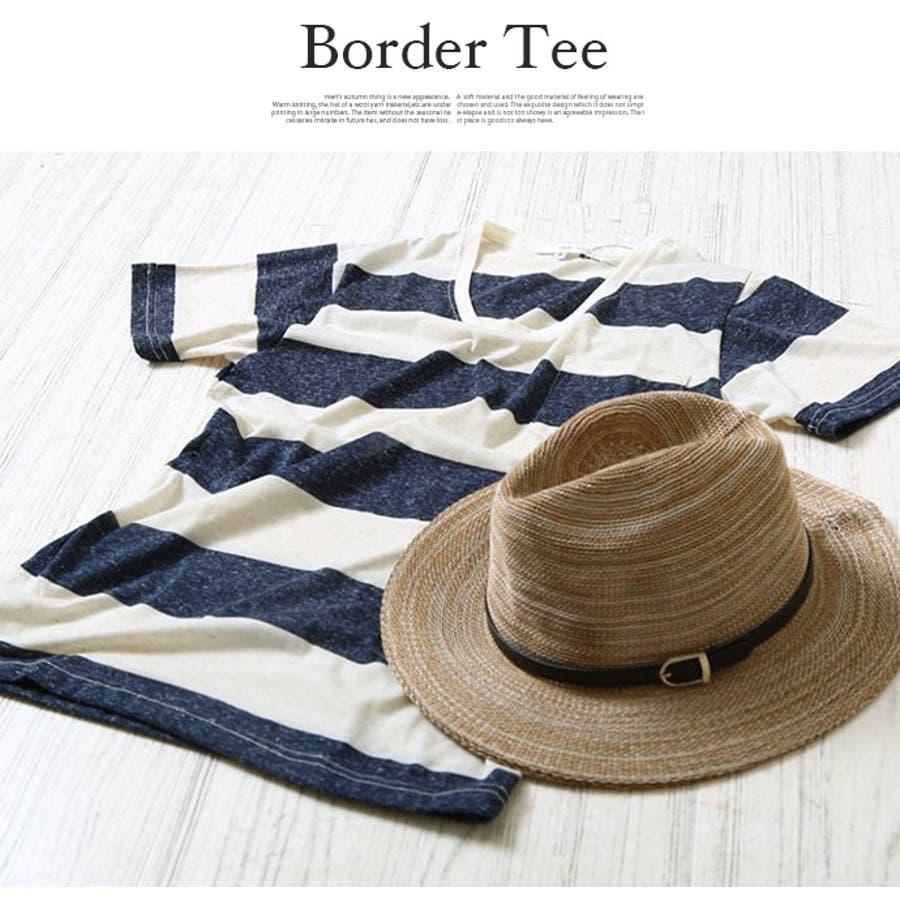 メンズ Tシャツ カットソー 麻混 ボーダー ポケット 薄手 クルーネック 丸首 半袖 カジュアル ホワイト ネイビー グレーブラック S M L XL 3