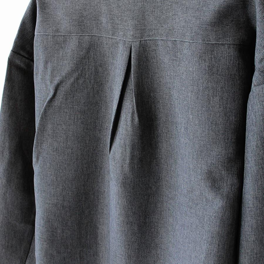 メンズ シャツ ハーフジップ リングジップ トップス 長袖 無地 チェック 紳士 男性 ゆったり チャック ファスナー M L 10