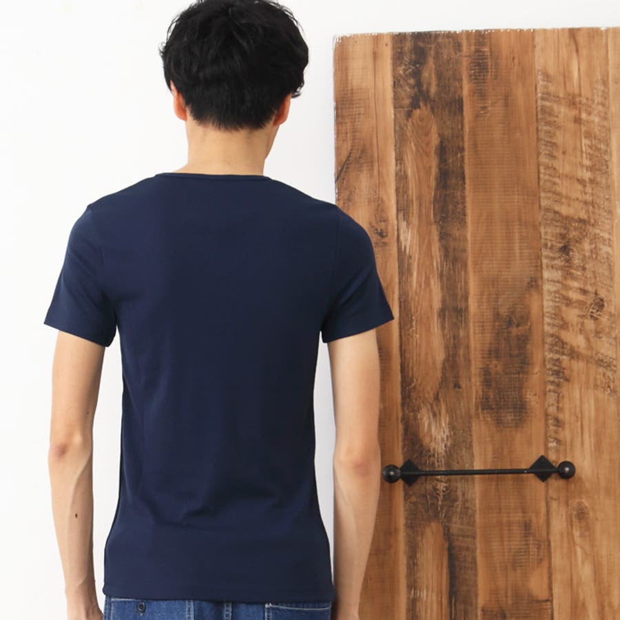 メンズ フライス 無地 タンクトップ Vネック Tシャツ フィット インナー 縦縞 ホワイト チャコール グレー ブラック ピンクブルー レッド ネイビー M L サイズ【324】[11][MT][B]【SHOT ショット】『z』[170515] 7