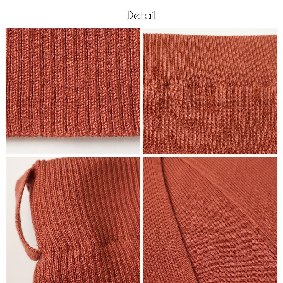 総針ベルト付きタイトスカート/春夏/セットアップ/ニットスカート 4