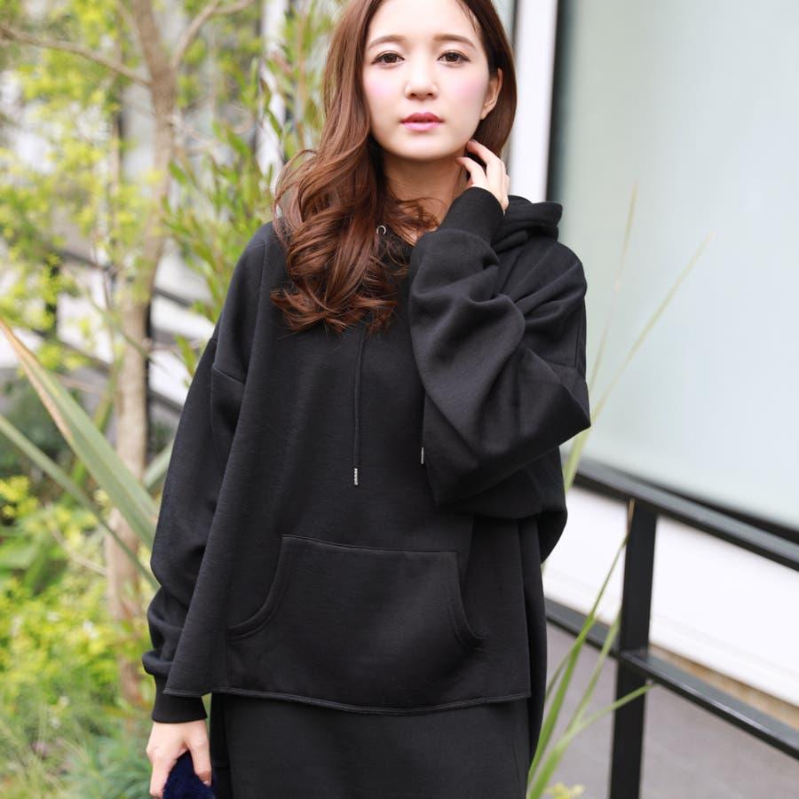 裏毛裏起毛スリットルーズパーカー/スウェット/秋冬 6