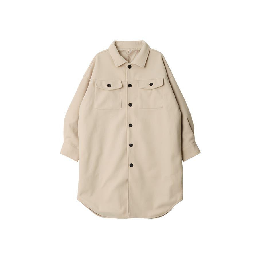 フェイクウールオーバーサイズシャツジャケット秋冬 18