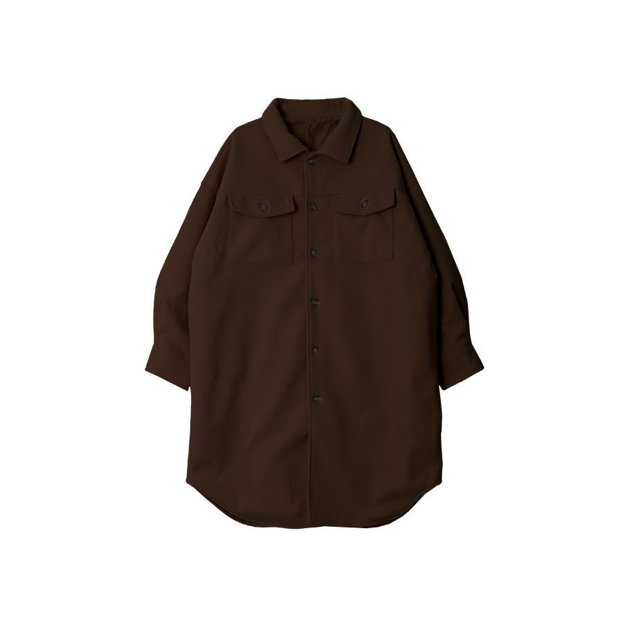 フェイクウールオーバーサイズシャツジャケット秋冬 29