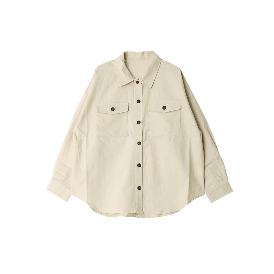 リネンライクツイルオーバーサイズシャツ/トップス/春夏 18