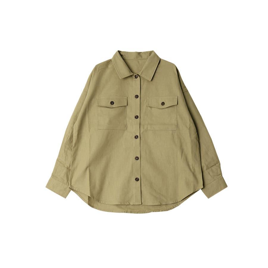 リネンライクツイルオーバーサイズシャツ/トップス/春夏 53