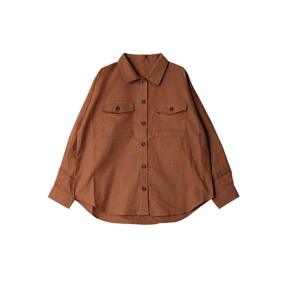 リネンライクツイルオーバーサイズシャツ/トップス/春夏 34