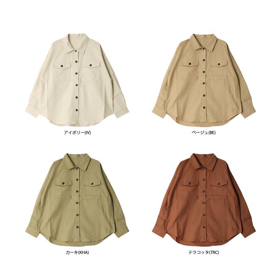 リネンライクツイルオーバーサイズシャツ/トップス/春夏 3