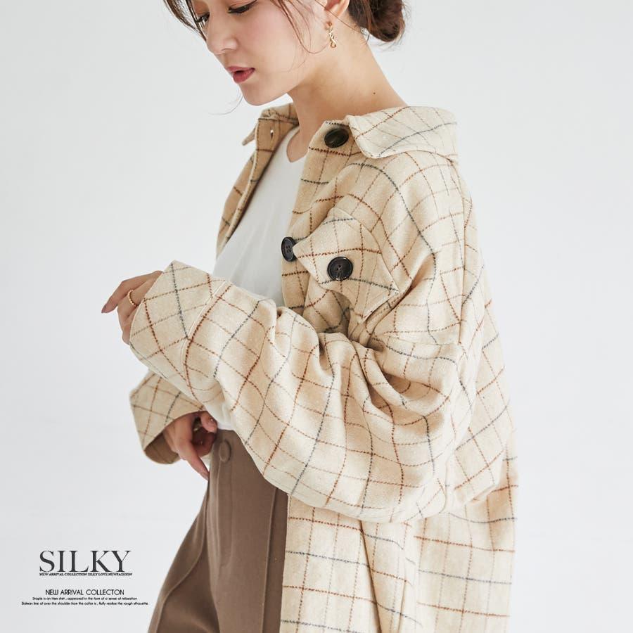 先染め柄ビックCPOシャツ/トップス/秋冬 1