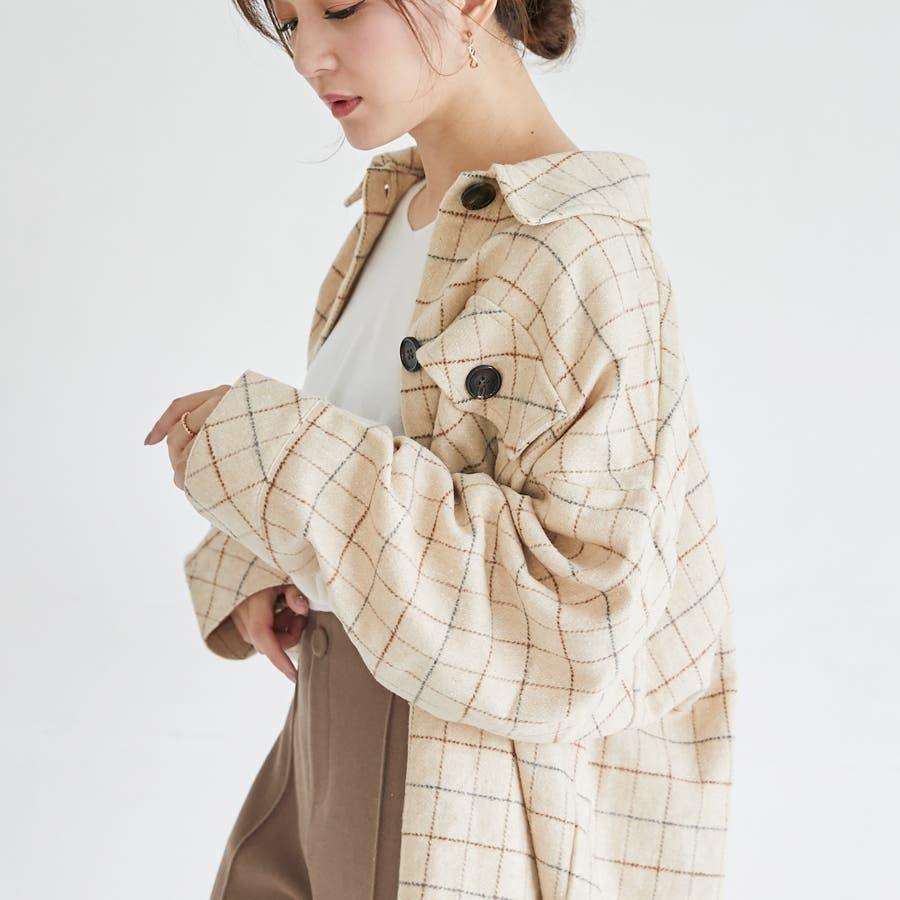 先染め柄ビックCPOシャツ/トップス/秋冬 18