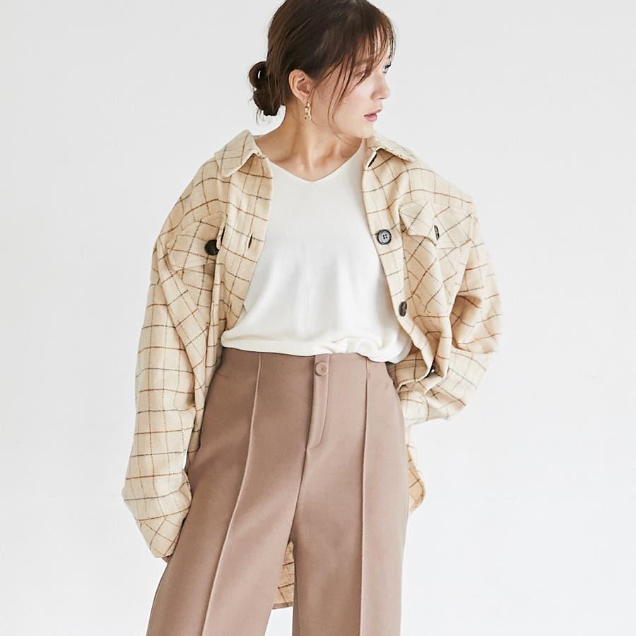先染め柄ビックCPOシャツ/トップス/秋冬 5