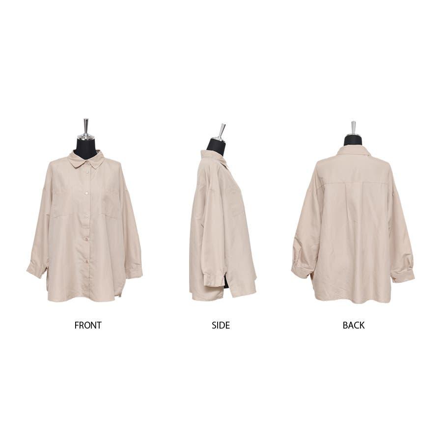 エステル起毛オーバーサイズシャツ/トップス 2