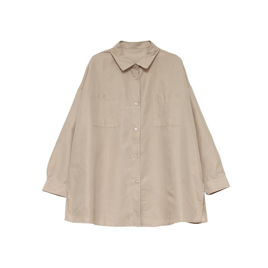 エステル起毛オーバーサイズシャツ/トップス 41