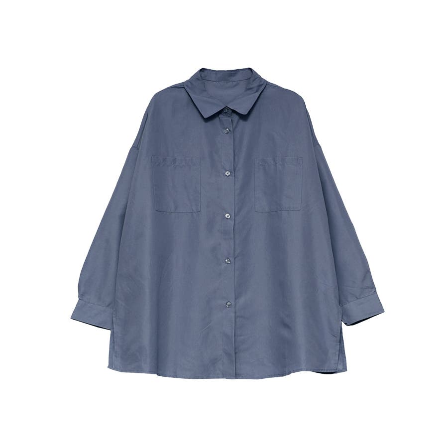 エステル起毛オーバーサイズシャツ/トップス 59