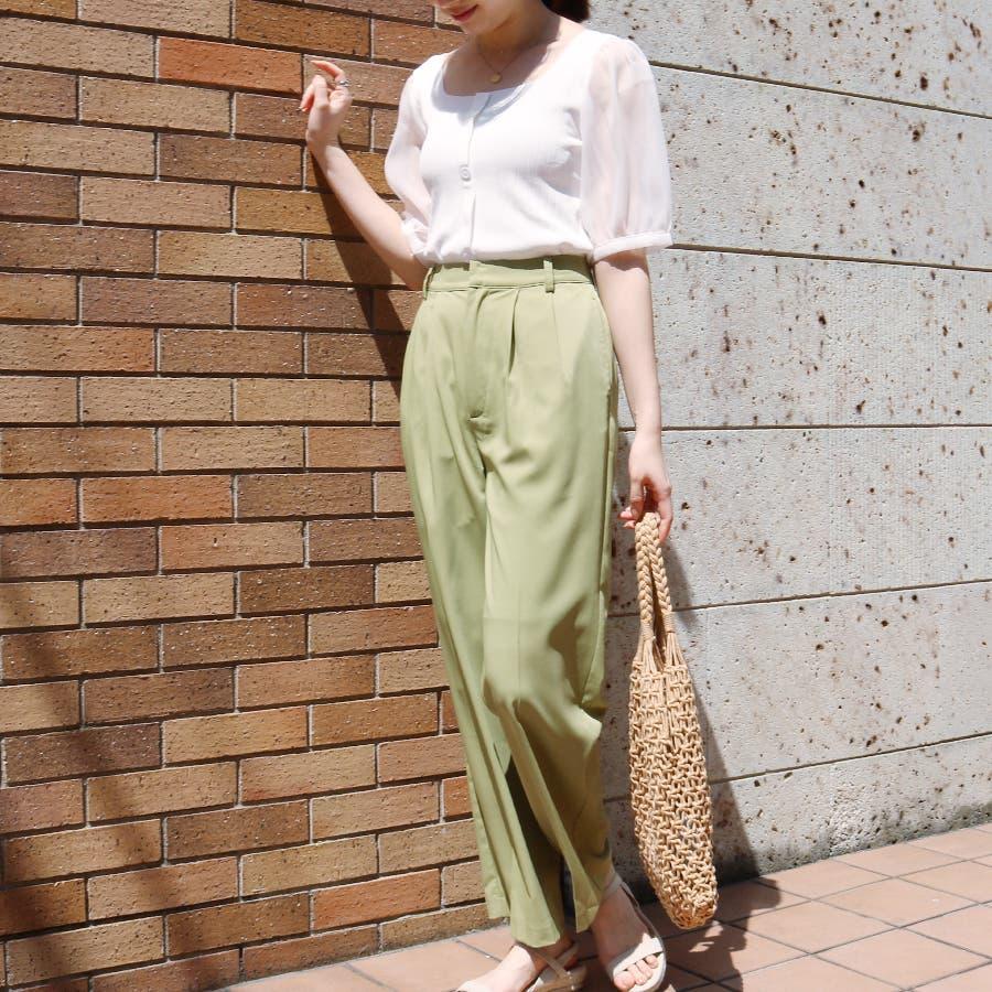 シースルースリーブ2WAYニットトップス/韓国ファッション/シアー素材 6