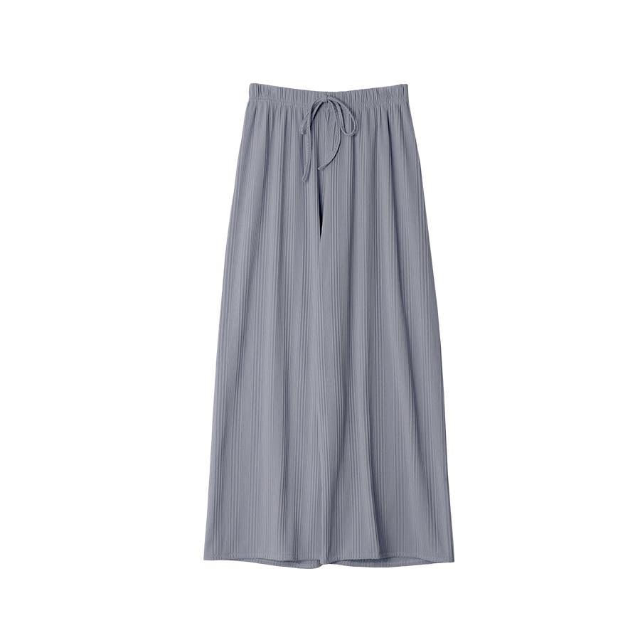 マルチリブワイドパンツ/ルームウェア/韓国ファッション 59