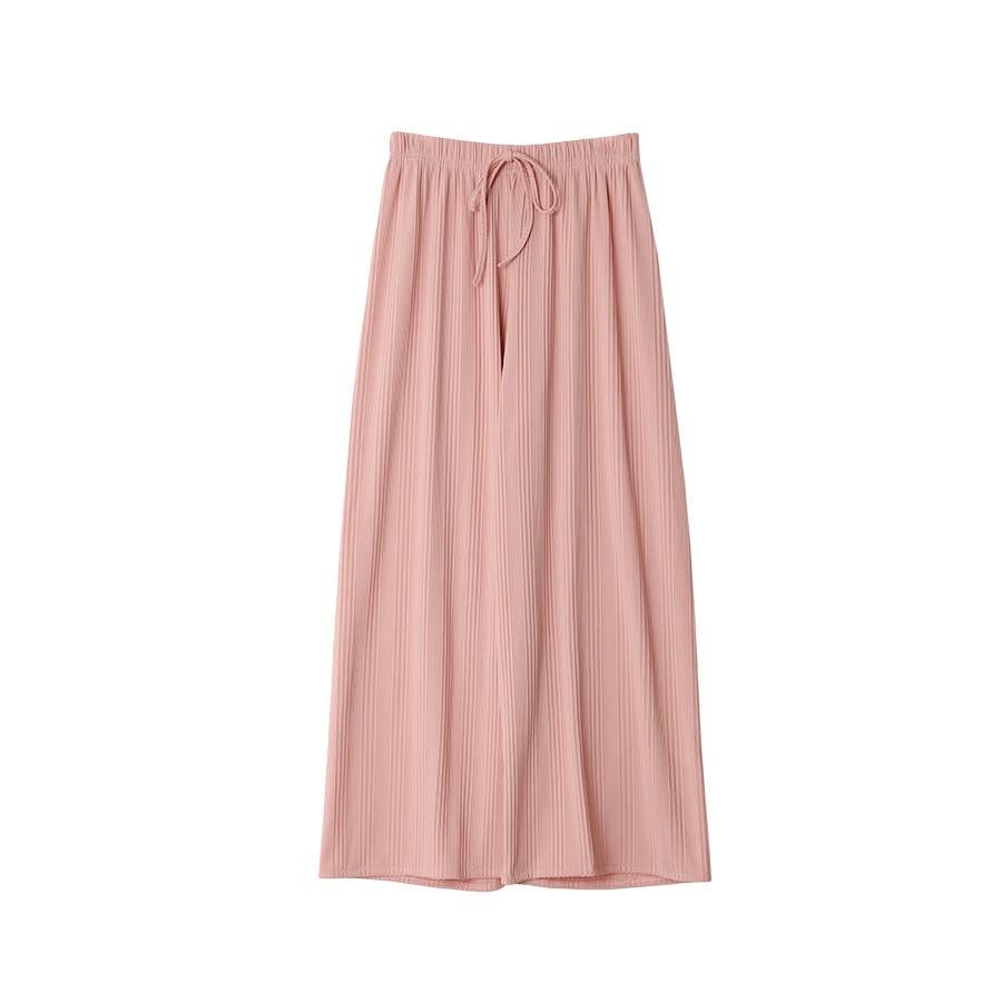 マルチリブワイドパンツ/ルームウェア/韓国ファッション 87